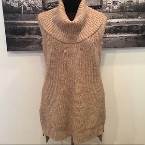 W by worth sleeveless turtleneck tunic sweater